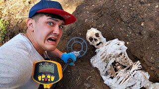 Эту жуткую находку мы нашли под землей с помощью металлоискателя