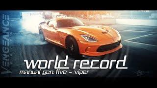 Світовий рекорд 1/4 милі - механічна 5-го покоління Вайпер - помста гонки