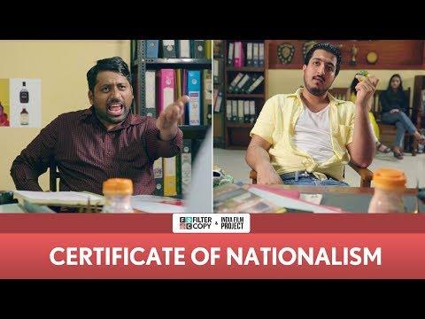 FilterCopy   Certificate Of Nationalism   Ft. Pranay Manchanda and Kartik Krishnan thumbnail