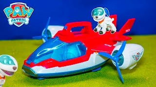 Unboxing the Paw Patrol Air Patroller with Robodog Toys