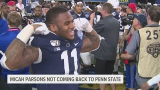 Penn State coach says Micah Parsons was torn about returning to Nittany Lions