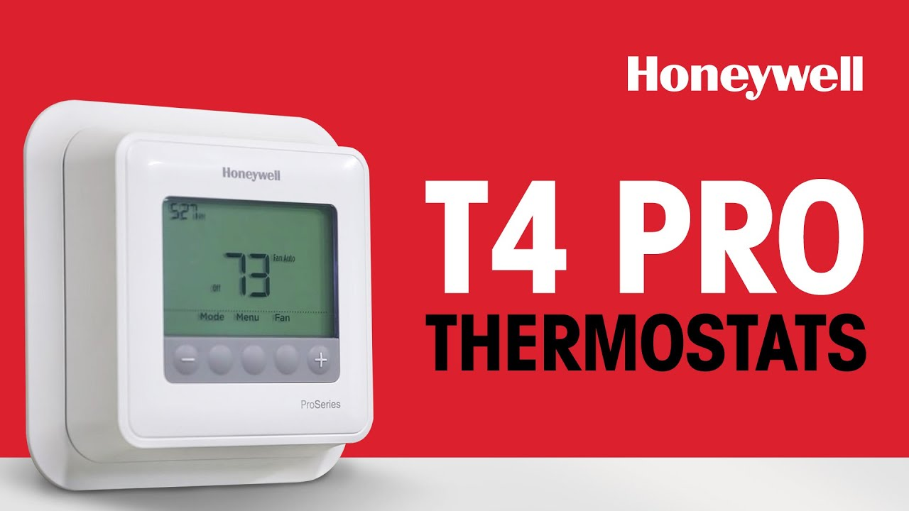 honeywell t4 pro thermostats [ 1280 x 720 Pixel ]