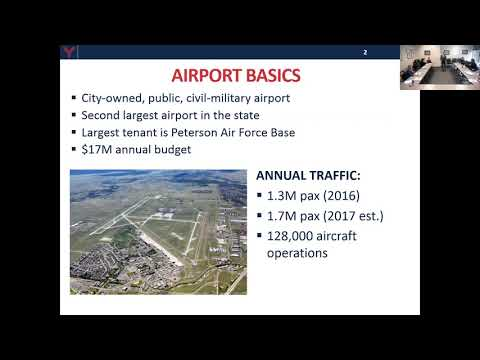 Speaker: GREGORY S. PHILLIPS, A.A.E. Director of Aviation | Colorado Springs Airport