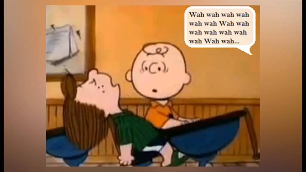 Image result for charlie brown listening to teachers