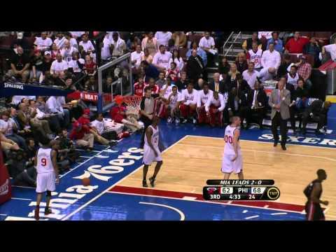 Dwyane Wade 32pts vs Philadelphia 76ers game 3 playoffs 04/21/2011 hd