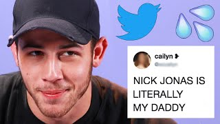 Nick Jonas Reads Hilarious Thirst Tweets