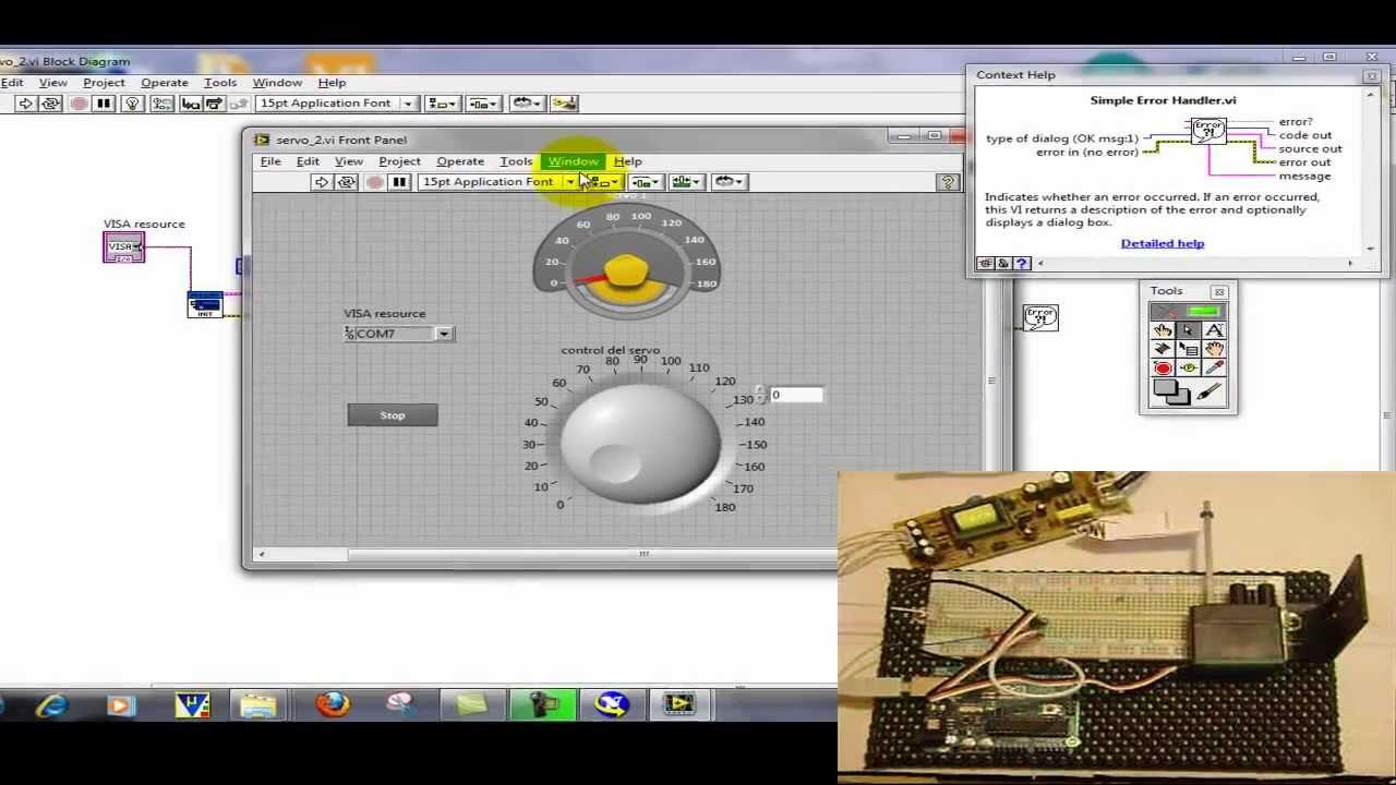 control de servomotor con tarjeta arduino y labview de nationalcontrol de servomotor con tarjeta arduino y labview de national instruments youtube