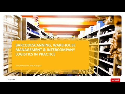 Barcode Scanning, Warehouse Management and Intercompany Logi