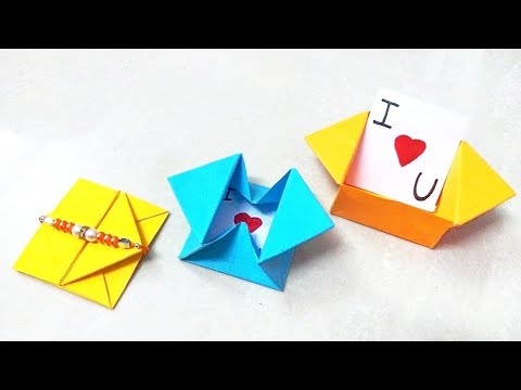 How to make origami paper envelope - 2 | Origami / Paper Folding Craft, Videos & Tutorials.