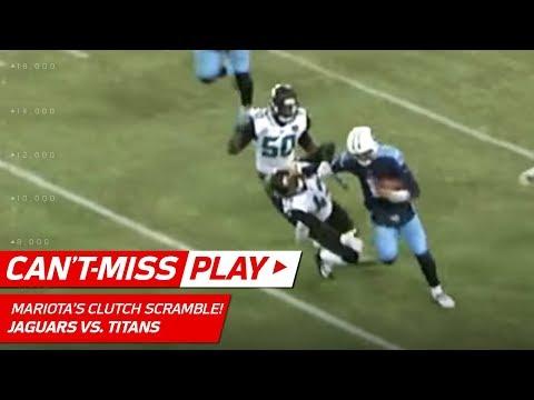 Marcus Mariota Throws Sick Stiff Arm to Send Titans to the Playoffs! | Can