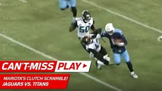 Marcus Mariota Throws Sick Stiff Arm to Send Titans to the Playoffs! | Can't-Miss Play | NFL Wk 17