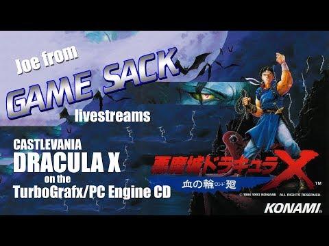 Joe streams Castlevania Dracula X on the Turbo/PC Engine CD