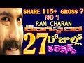 Rangasthalam 27 days box office collections │ Ram Charan Rangasthalam 27 days collections