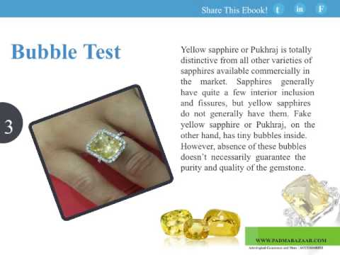 5 Ways To Check Yellow Sapphire Pukhraj