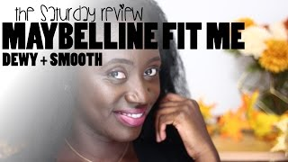 MAYBELLINE FIT ME DEWY AND SMOOTH FOUNDATION REVIEW - Maggie Magnoli