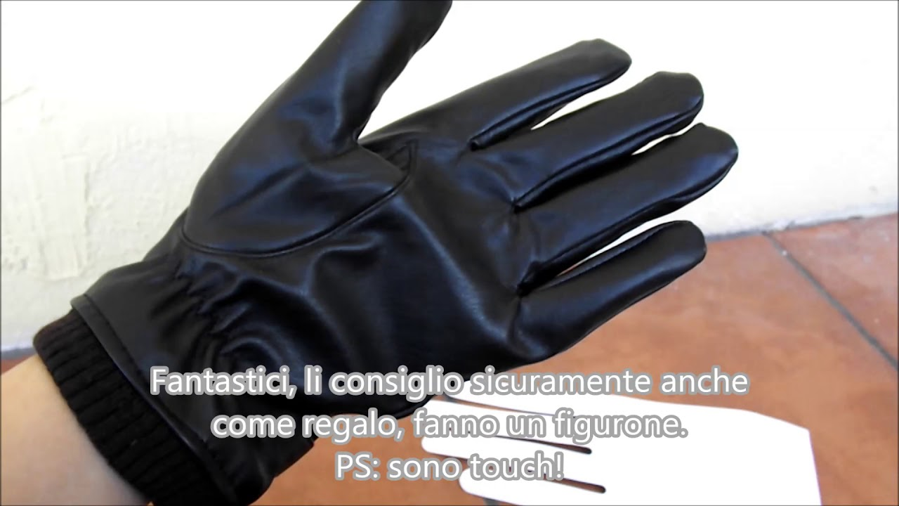 Widmann Partido Milano 8535A guanti in pelle sintetica da uomo taglia unica