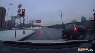 ДТП из 3-х машин в СПб 19 01 2017