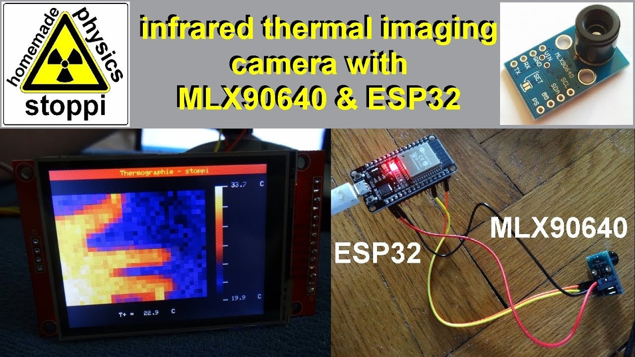 Infrared Thermal Imaging Camera With MLX90640 and ESP32 for Less