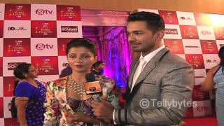 Rubina Dilaik designs for Abhinav Shukla