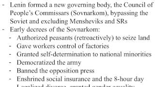 The October Revolution and Consolidating Power