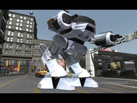 Play As ED-209 In GTA IV - #ED209Mod GTA IV Script Mod Release