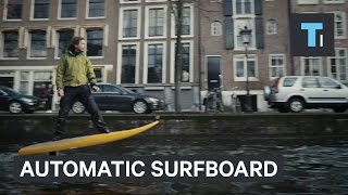 This automatic surfboard can jet anywhere without waves