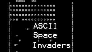ASCII Space Invaders in C