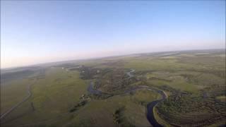 Путешествие над рекой. Тандемный полет на мотопараплане. Иркутская область. Хомутово.
