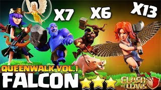 How to FALCON - TH10 Attack Strategy for 3 Stars | Th10 QueenWalk Falcon | Th10 Best Clash of Clans