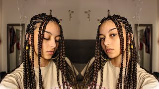 GETTING BOX BRAIDS FOR THE FIRST TIME !!!