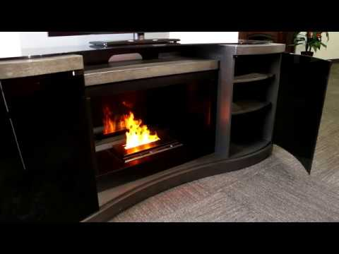 Dimplex Quintus TV Stand With Opti-myst Vapor Fireplace ...