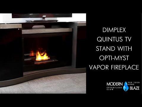Dimplex Quintus TV Stand With Opti-myst Vapor Fireplace ...