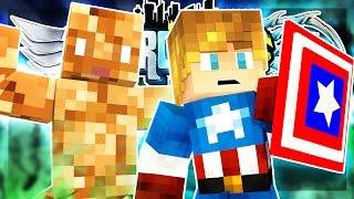 CAPTAIN AMERICA & THE THING! | Minecraft HeroWars Prison w/JAYG3R #3 (*New* Custom Prison Server)