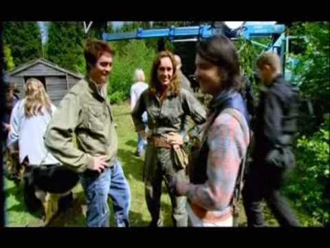 on the set of Primeval
