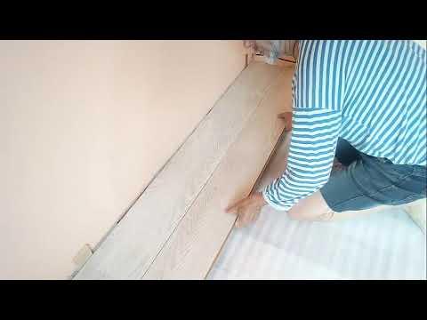Укладка ламината на деревянный пол видеоурок