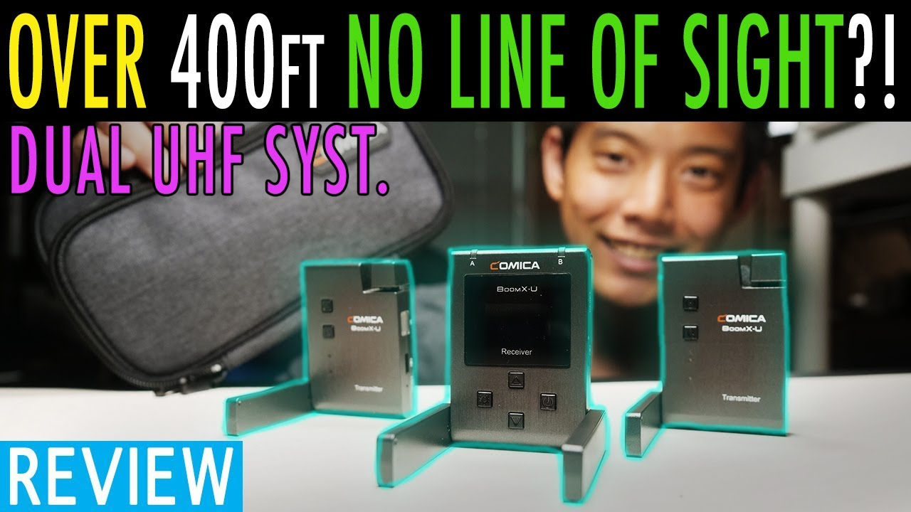 Comica BoomX-U In-Depth Review | Over 300ft No Line Of Sight!!! | Best Budget UHF Dual Ch Wireless