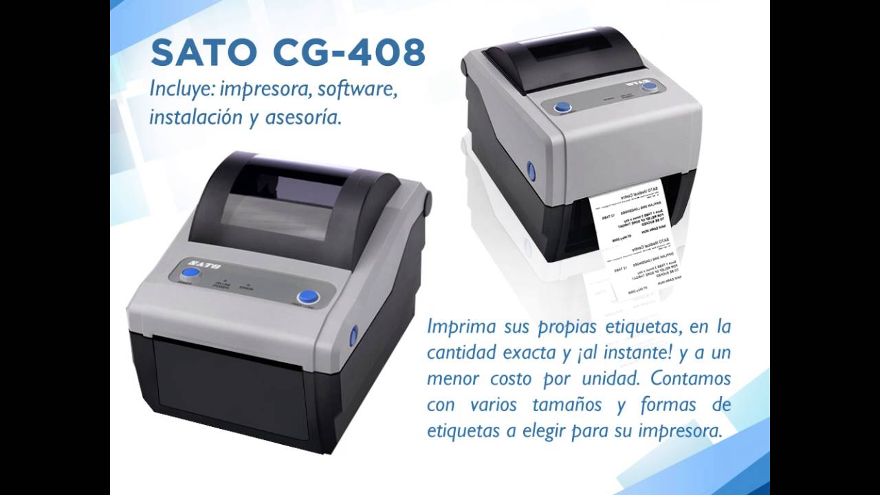 SATO CG408TT BARCODE PRINTER DRIVERS WINDOWS XP