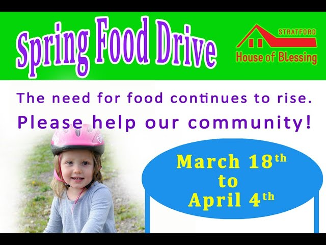 Spring Food Drive Interview
