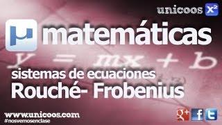 Discutir un sistema con dos parametros - Rouché-Frobenius BACHILLERATO