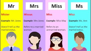 Mr and mrs meaning