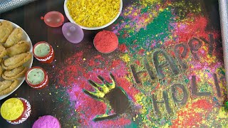 Beautifully decorated festive table for the festival of colors Holi celebrated in India
