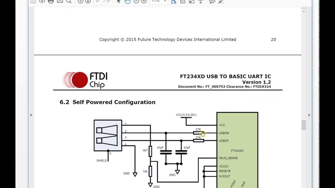Verilog Tutorial 38:FTDI FT234XD USB To Uart 01
