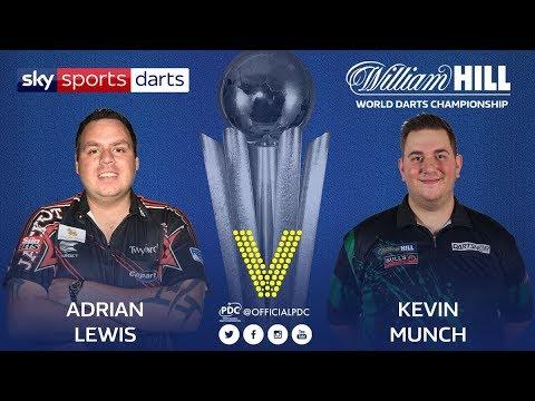 2018 World Darts Championship Round 1 A.Lewis vs Munch