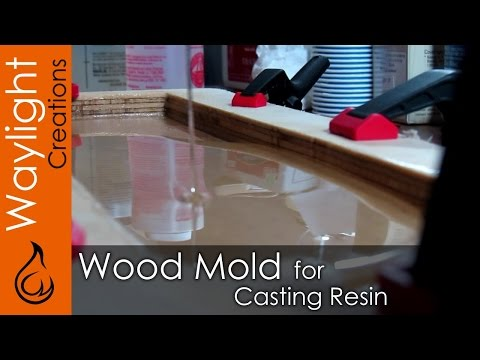 DIY Wood Mold for Resin - Resin EXPERIMENT #1