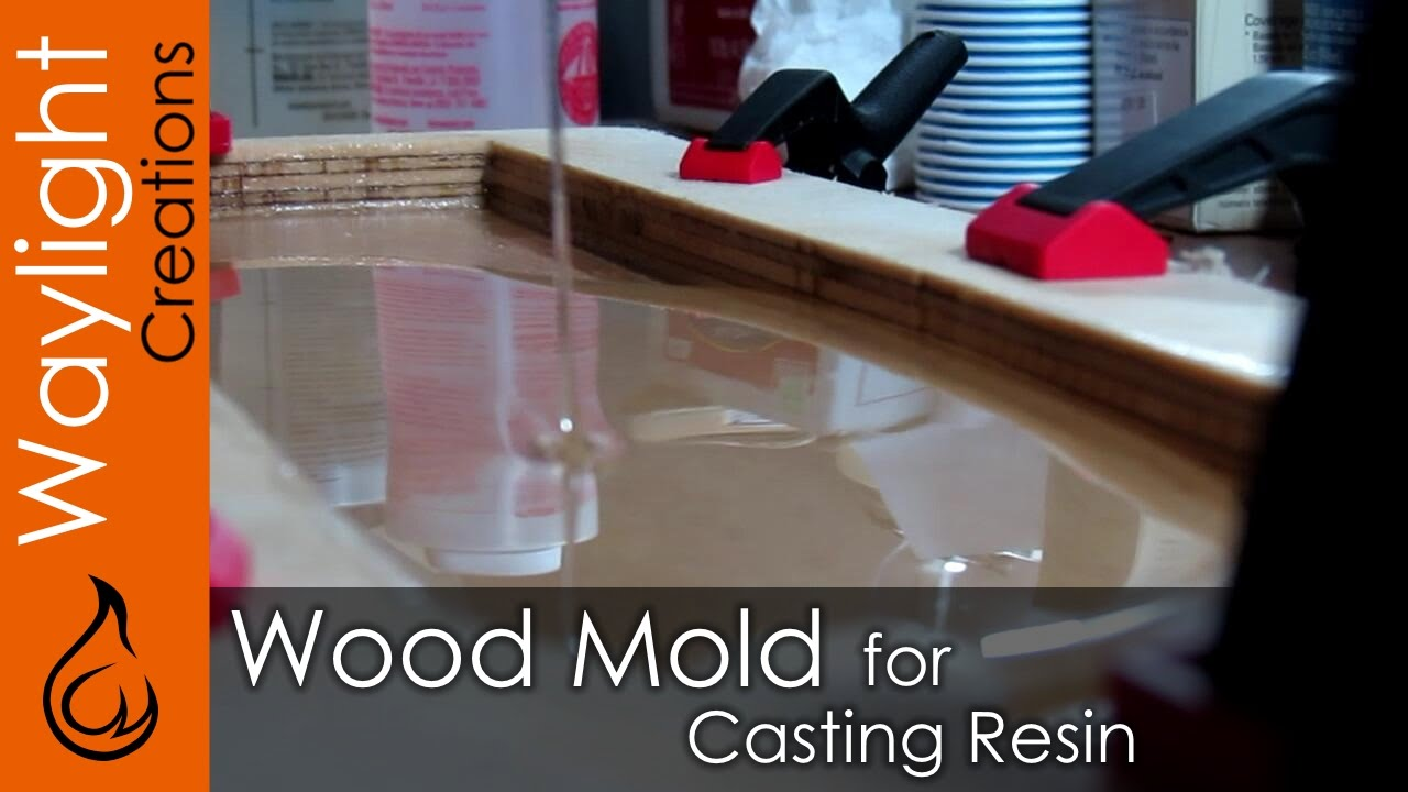 Diy Wood Mold For Resin Resin Experiment 1 Youtube