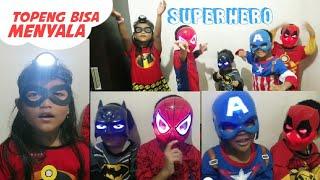 Topeng Superhero Bisa Menyala Keren | LED Glowing Superhero ...
