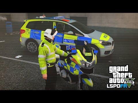 GTA 5 LSPDFR - POLICE MOTORBIKE PATROL - The British way #99