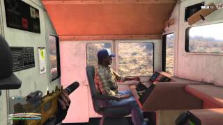 GTA V Online - How to enter / steal the Train Cab / Engine on ALL 5 Systems, AFTER the Update!