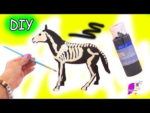 DIY Dollar Tree Glow In The Dark Skeleton Horse Do It Yourself Craft Video