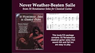 Gambar cover Never Weather-Beaten Saile, by Thomas Campian (solo classical guitar)